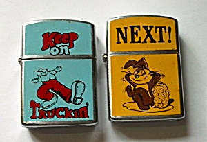 VINTAGE NESOR TRUCKIN & BUNNY NEXT POCKET LIGHTER (Image1)