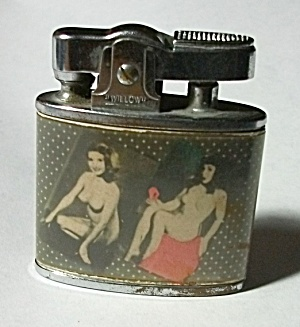 1950`s Willow 4 Picture Nude Pinup Lighter