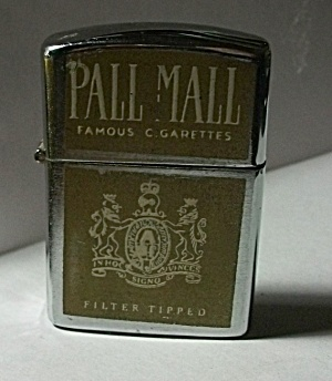 Vintage 1960`s S.m.c. Pall Mall Cigarette Lighter