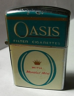 Vintage Continental Adv. Oasis Cigarettes Lighter