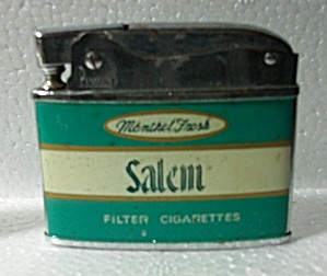 1960`s Penquin Salem Cigarettes Flat Lighter
