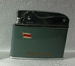 1960`s Zenith Adv. Shinnihon Line Flat Lighter