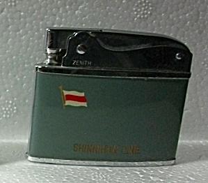 1960`S ZENITH ADV. SHINNIHON LINE FLAT LIGHTER (Image1)