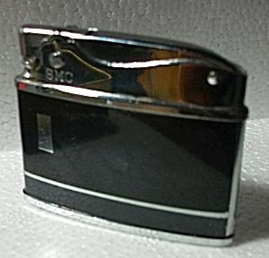 SMC 1960`S N.O.S. BLACK & GRAY ENAMEL FLAT LIGHTER (Image1)