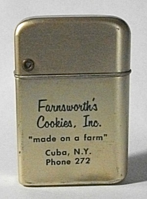 1960`s Farnsworth`s Cookies Inc. Cuba Ny Lighter