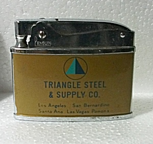 1960`s Penquin Adv. Triangle Steel & Supply Co. Lighter