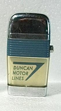 VINTAGE 1960`S SCRIPTO VU SMALL ADV. DUNCAN MOTOR LINES (Image1)