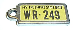 VINTAGE 1956 NEW YORK STATE DAV MINI PLATE (Image1)