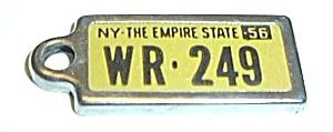 VINTAGE 1956 NEW YORK STATE DAV MINI PLATE (Image1)