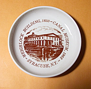 Weighlock Building 1850 - Canal Museum 1962 Ashtray