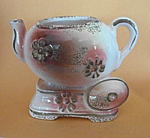 CIRCA 1950`S TEA POT FIGURINE - PLANTER  (Image1)