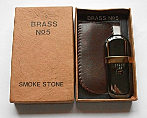 CROWN PLATINUM & BRASS TUBE LIGHTER NOS (Image1)