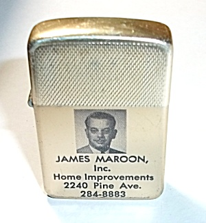 1970`s Park Adv. James Maroon Inc. Pocket Lighter