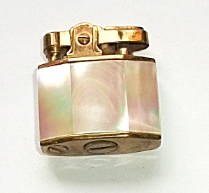VINTAGE 1960`S PEARL FAUX MOTHER OF PEARL LIGHTER (Image1)