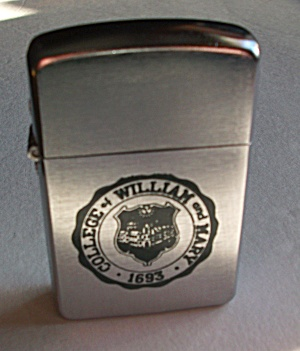 1957 Champ Adv. William & Mary College 1693 Lighter