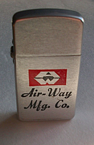 Vintage Adv. Air - Way Mfg./ Co. Slim Line Lighter