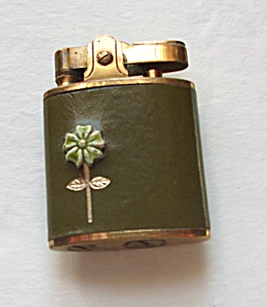 Vintage 1960`s Buxtons Green Floral Ladies Lighter