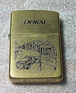 1996 ZIPPO DORAL CIGARETTE BRASS FINISH LIGHTER (Image1)