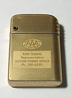 VINTAGE STORM MASTER ADV. AAA MICHIGAN LIGHTER (Image1)