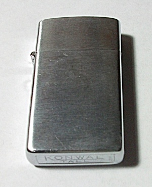 Vintage 1960`s Konwall Tall Slim Line Ladies Lighter.
