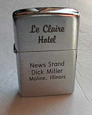 IK KOREA ADV. LE CLAIRE HOTEL MOLINE ILLINOIS LIGHTER (Image1)