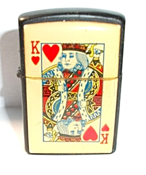 1990`s Black King Of Hearts Pocket Lighter