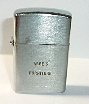 VINTAGE 1960`S TAC ADV. ABBE`S FURNITURE MINI LIGHTER (Image1)