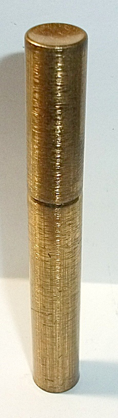 Vintage 1950`s Gold Tone Tube Cigarette Lighter Nos