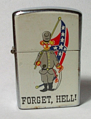 NOS NEW VINTAGE 1970`S REBEL - FORGET HELL! LIGHTER  (Image1)