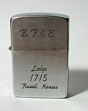 ADVERTISING B.P.O.E. LODGE 1715 RUSSELL KANSAS LIGHTER (Image1)