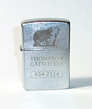 ADVERTISING THOMPSON CATTLE CO. 434 - 2114 LIGHTER (Image1)