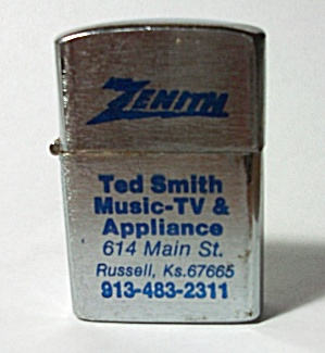 VINTAGE 1970`S ADV. ZENITH TED SMITH RUSSELL KANSAS  (Image1)