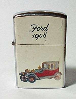 VINTAGE FORD 1908 CARD LIGHTER NEW OLD STOCK (Image1)