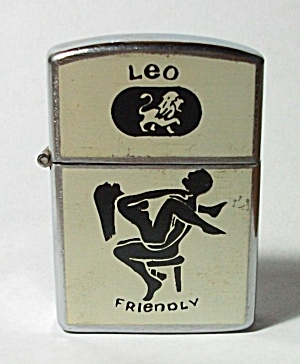 VINTAGE 1970`S NESOR LEO - FRIENDLY ZODIAC XXX LIGHTER (Image1)