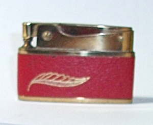 Vintage 1950`s Bomart Faux Red Leather Ladies Lighter