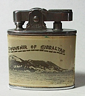 VINTAGE 1950`S OMEGA LIGHTER SOUVENIR OF GIBRALTAR (Image1)