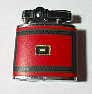 VINTAGE 1960`S PAC LIGHTER FAUX RED LEATHER WRAP (Image1)