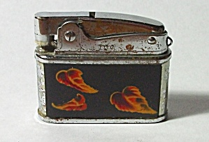 RARE I.C.C. JAPAN MINI ART DECO LEAF LIGHTER 1950`S (Image1)
