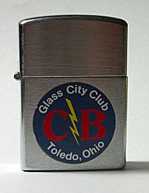 NOS MINT JAPAN GLASS CITY CLUB TOLEDO OHIO LIGHTER (Image1)