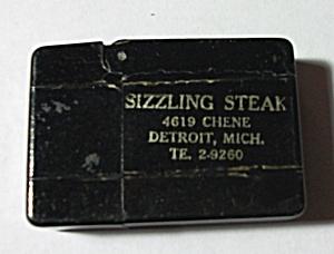 VINTAGE 1930`S BAKELITE BLACK ADV. SIZZLING STEAK MICH. (Image1)