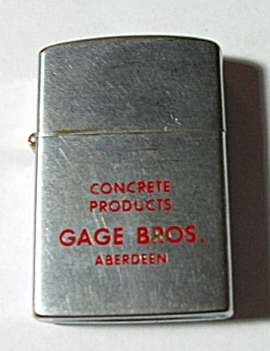 VINTAGE DIRECT D 50  ADV. CONCRETE PRODUCTS GAGE BROS. (Image1)