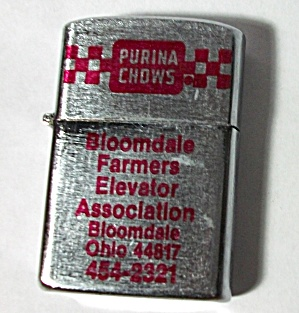 VINTAGE 1960`S PURINA CHOWS BLOOMDALE OHIO LIGHTER (Image1)