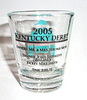 2005 KENTUCKY DERBY GIACOMO SHOT GLASS (Image1)