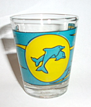 OLD DOLPHINS BAHAMAS SHOT GLASS (Image1)