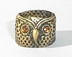 RARE VINTAGE COPPER TONE OWL RING SIZE 7.25 (Image1)