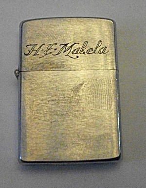 1962 ..ZIPPO.. LIGHTER ENGRAVED H.E. MAKELA (Image1)