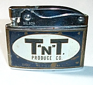 VINTAGE 1950`S BALBOA ADV. T N T PRODUCE CO. LIGHTER (Image1)