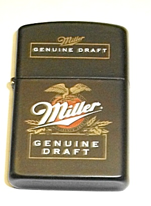 Nos Black Adv. Miller Genuine Draft Beer Lighter