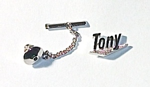 VINTAGE 1960`S SWANK TIE TACK TONY EXCELLENT CONDITION. (Image1)