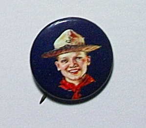 1920s Celluloid Boy Scout Pin back (Image1)